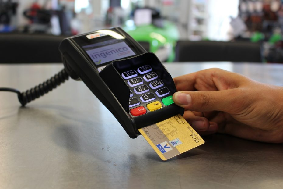 Payment by credit card in the terminal